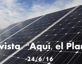 """Entrevista en """"Aquí, El Planeta"""" (25/6/16)"""