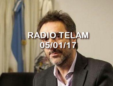 ENTREVISTA PARA RADIO TELAM 05/01/17