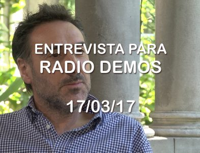 Entrevista para radio Demos – 17/03/17