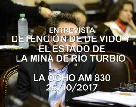 Juan Carlos Villalonga sobre la detención de De Vido y el estado de la mina de Río Turbio – La Ocho  AM 830